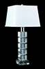 Crystal Beveled Square Table Lamp by Lamp Works