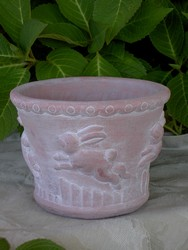 Bunny Rabbit Fine Cast Planter