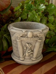 Round Cast Stone Truth is Wisdom Planter