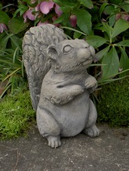 Furry Squirrel Garden Sculpture