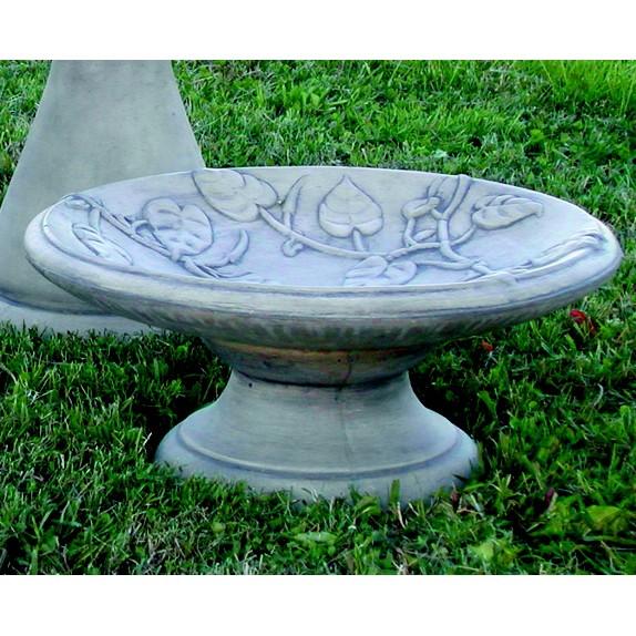 Vine Motif Garden Birdbath With Pedestal