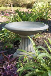 Miniature Fluted Garden Birdbath (many colors)