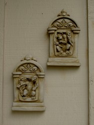 Gothic Animal Window Plaque Pair
