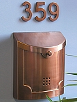 Ecco Fuoriserie E4 Transitional Wall Mounted Mailbox