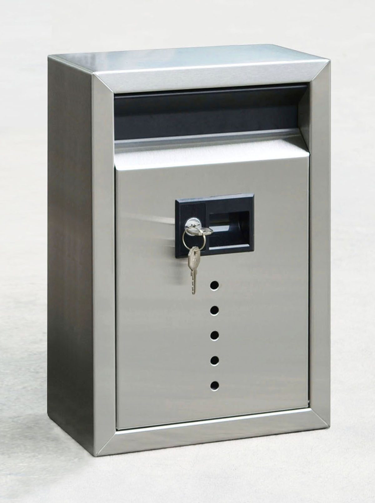 Ecco Fuoriserie E9 Small Stainless Steel Locking Mailbox