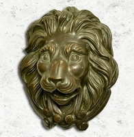 Small Bronze Lion's Mask Water Fountain Spout