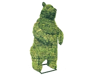 Standing Bear Mossed Garden Topiary Frame
