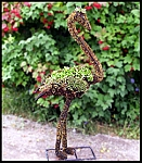 Flamingo Garden Topiary Frame