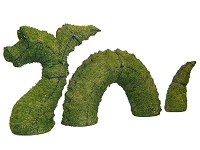 Dragon Nessie Garden Topiary Mossed Frame