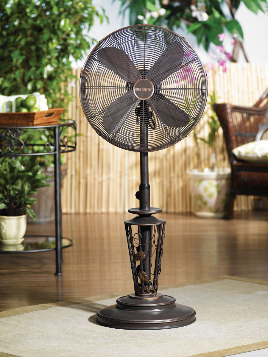 Outdoor Stand Fan Palm : Inch outdoor standing vines fan