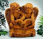 Li'l Angels Reading On Pillow Garden Statue