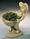 Flower Boy Garden Statue Planter