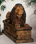 Royal Reclining Lion (Left) Garden Statue