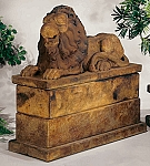 Royal Reclining Lion (Right) Garden Statue