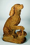 Flower Basket Dog (Right Paw Up) Garden Statue