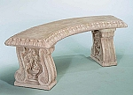 Grapeleaf Curved Outdoor Garden Bench, 3 pc.