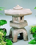 Hexagon Cast Stone Japanese Garden Lantern