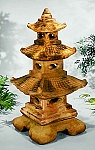 Large Tiered Stone Garden Pagoda Lantern, 5 pc