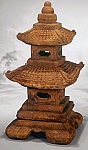 Medium Tiered Stone Garden Pagoda Lantern, 4 pc.