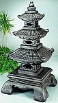 Giant Tiered Stone Garden Pagoda Lantern, 5 PC