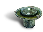 Birds of a Feather Outdoor Cast Stone Garden Fountain with Light Kit