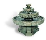Large Regal Tier Outdoor Cast Stone Garden Fountain