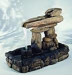 Inuksuk Guide Outdoor Cast Stone Garden Fountain