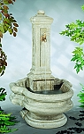 Column Well Outdoor Cast Stone Garden Fountain