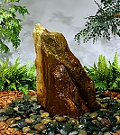 Bubbling Rock Outdoor Cast Stone Garden Fountain