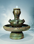New Lion Jug Outdoor Cast Stone Garden Fountain