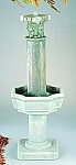 Small Four Seasons Column Outdoor Cast Stone Garden Fountain