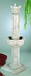 Large Four Seasons Column Outdoor Cast Stone Garden Fountain