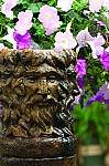 Garden Green Man Column Outdoor Cast Stone Garden Planter