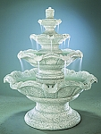 Quattro Classic Tier Outdoor Cast Stone Garden Fountain