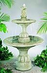 New Small Contemporary Tier Outdoor Cast Stone Garden Fountain