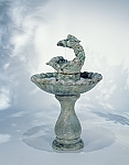 Classic Springtime Outdoor Cast Stone Garden Fountain
