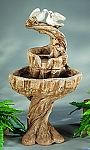 Two Love Birds Outdoor Cast Stone Garden Fountain