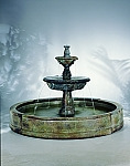 Small Tazza in Valencia Outdoor Cast Stone Garden Fountain