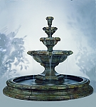 Grande Kensington Three Tier Outdoor Cast Stone Garden Fountain Pool