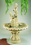 Pouring Cherubs Outdoor Cast Stone Garden Fountain