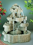 Large Rockfall Outdoor Cast Stone Garden Fountain