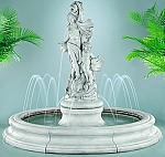 Venus With Dolphins Outdoor Cast Stone Garden Fountain