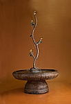 Butterfly Branch Hybrid Outdoor Cast Stone Garden Fountain