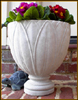11 Inch Cast Stone Lotus Table Vase (many colors)