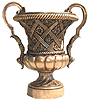 58 Inch Rose Bronze Urn / Bronze Planter