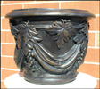 Grape Leaf Bronze Planter