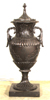 50 Inch Grape Vine Bronze Urn with Lid