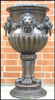 47 Inch Bronze Lion Urn with Rings / Bronze Planter