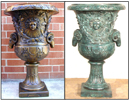 39 Inch Apollo Sun God Greek Bronze Urn / Bronze Planter