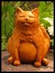 Muffins Happy Fat Cat Statuary
